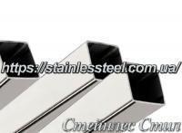 Труба нержавеющая профильная 15Х15Х1,0 AISI 201 (зеркальная, полированная 600 grit)