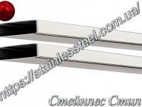 Stainless pipe profile 100Х20Х2 AISI 201 (600 grit)