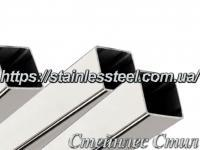 Stainless Pipe profile 15Х15Х1,0 AISI 201 (mirror polished to 600 grit)
