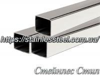 Stainless Pipe profile 12Х12Х1,2 AISI 201 (mirror polished to 600 grit)