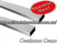 Stainless Pipe profile 50Х20Х1,5 AISI 201 (mirror polished to 600 grit)