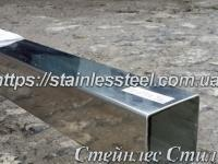 Stainless pipe profile 60Х60Х1,5 AISI 201 (600 grit)