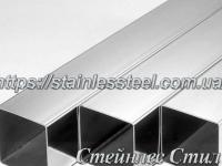 Stainless Pipe profile 80Х80Х1,5 AISI 201 (mirror polished to 600 grit)