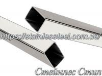 Stainless pipe profile 20Х15Х1,5 AISI 201 (600 grit)