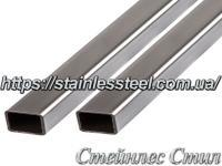 Stainless pipe profile 30Х20Х2 AISI 201 (600 grit)