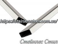 Stainless pipe profile 40Х20Х1,2 AISI 201 (600 grit)