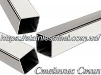 Stainless pipe profile 40Х40Х1,5 AISI 201 (600 grit)