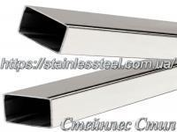 Stainless pipe profile 50Х25Х1,5 AISI 304 (mirror)