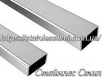 Stainless pipe profile 50Х25Х2 AISI 304 (mirror)