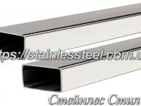 Stainless pipe profile 50Х30Х1,5 AISI 304 (mirror)