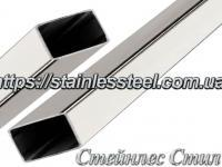 Stainless pipe profile 50Х30Х1,5 AISI 201 (600 grit)