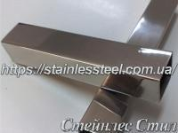 Stainless pipe profile 50Х50Х1,5 AISI 201 (600 grit)