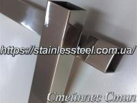 Stainless pipe profile 50Х50Х2 AISI 201 (600 grit)