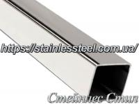 Stainless pipe profile 60Х60Х3 AISI 201 (600 grit)
