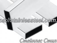 Stainless Pipe profile 80Х20Х1,5 AISI 201 (mirror polished to 600 grit)