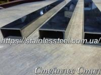 Stainless pipe profile 80Х40Х3 AISI 201 (600 grit)