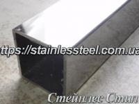 Stainless pipe profile 100Х100Х2 AISI 201 (600 grit)
