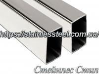 Stainless pipe profile 100Х50Х2 AISI 201 (600 grit)