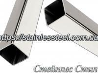 Stainless Pipe profile 15Х15Х1,2 AISI 201 (mirror polished to 600 grit)