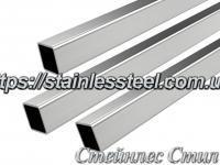 Stainless Pipe profile 20Х20Х1,5 AISI 201 (mirror polished to 600 grit)