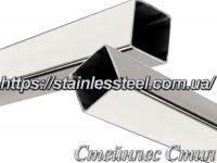 Stainless pipe profile 20Х20Х1 AISI 201 (600 grit)