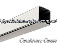 Stainless Pipe profile 25Х25Х1,0 AISI 201 (mirror polished to 600 grit)