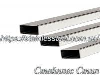 Stainless pipe profile 30Х10Х1,2 AISI 201 (600 grit)