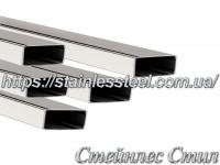Stainless pipe profile 30Х10Х1,5 AISI 201 (600 grit)
