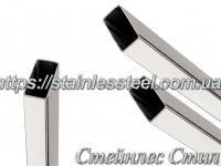 Stainless Pipe profile 30Х20Х1,5 AISI 201 (mirror polished to 600 grit)
