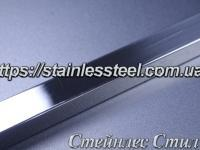 Stainless Pipe profile 30Х30Х1,0 AISI 201 (mirror polished to 600 grit)
