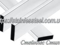 Stainless pipe profile 40Х10Х1,5 AISI 201 (600 grit)