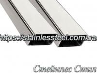 Stainless pipe profile 40Х20Х1,5 AISI 201 (600 grit)