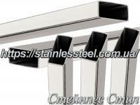 Stainless Pipe profile 50Х25Х1,2 AISI 201 (mirror polished to 600 grit)