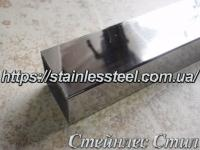 Stainless pipe profile 60Х60Х2 AISI 201 (600 grit)