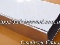 Stainless pipe profile 80Х40Х2 AISI 201 (600 grit)