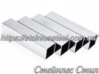 Stainless pipe profile 80Х80Х2 AISI 201 (600 grit)