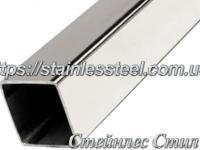 Stainless pipe profile 100Х100Х2 AISI 304 (mirror)