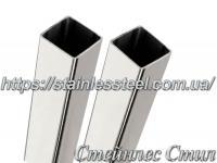 Stainless pipe profile 20Х20Х1 AISI 304 (mirror)