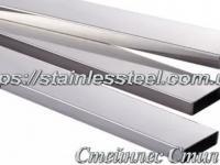Stainless pipe profile 40Х10Х1,5 AISI 304 (mirror)