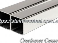 Stainless pipe profile 60Х60Х2 AISI 304 (mirror)