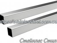 Stainless pipe profile 80Х80Х2 AISI 304 (mirror)