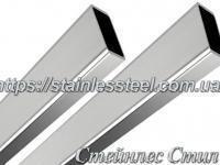 Stainless pipe profile 40Х20Х2 AISI 201 (600 grit)