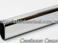 Труба нержавеющая плоскоовальная 40Х20Х1,2 (600 grit)
