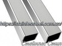 Труба нержавіюча профільна 80Х60Х2 AISI 201 (600 grit)