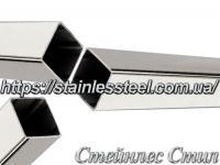 Stainless Pipe profile 25Х25Х1,2 AISI 201 (mirror polished to 600 grit)
