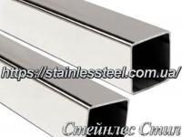 Stainless Pipe profile 25Х25Х1,5 AISI 201 (mirror polished to 600 grit)