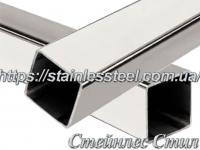 Stainless Pipe profile 10Х10Х1,5 AISI 201 (mirror polished to 600 grit)