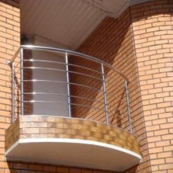 stainless pipe railing