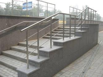 Stainless steel pipe for stair railing