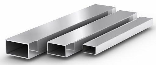 The pipe rectangular stainless AISI 304